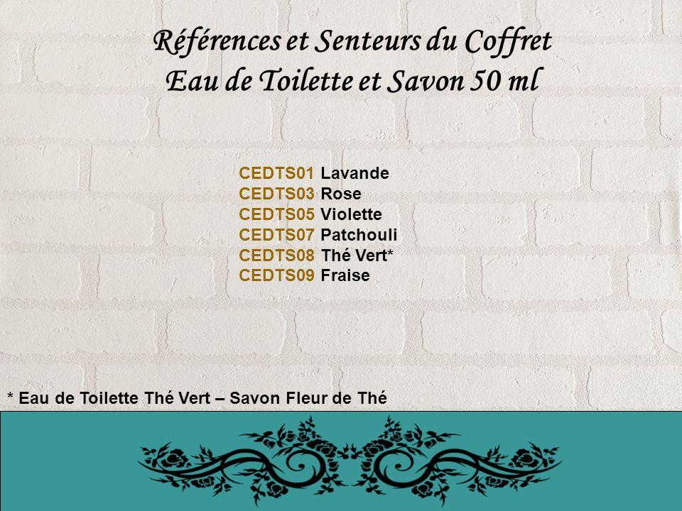 Références et Senteurs du Coffret Eau de Toilette et Savon 50 ml