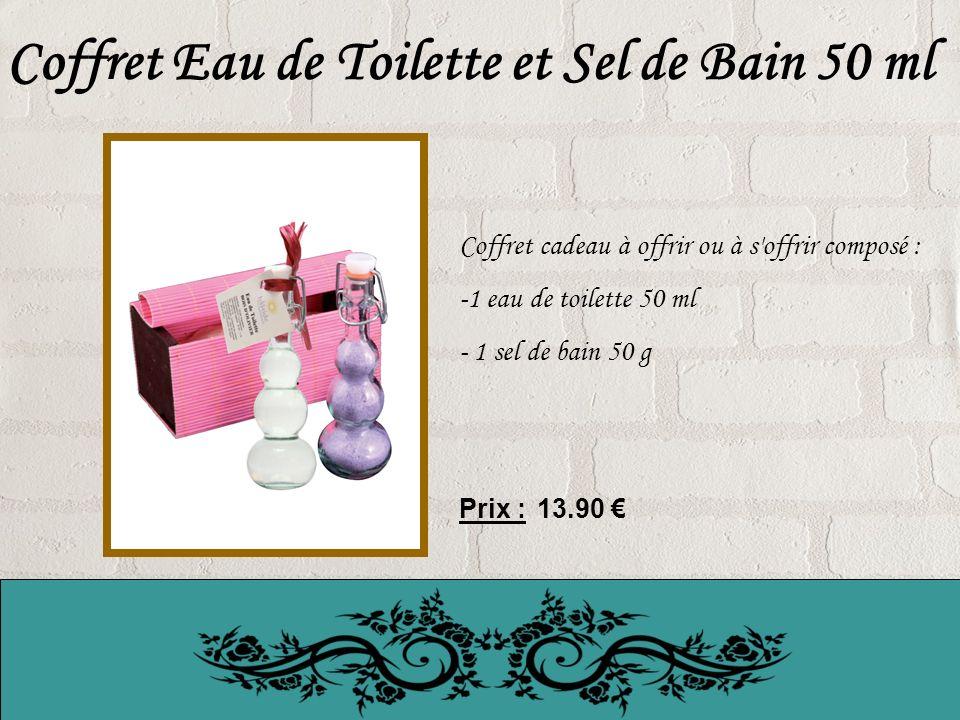 Coffret Eau de Toilette et Sel de Bain 50 ml