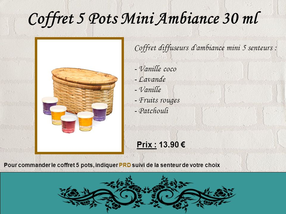 Coffret 5 Pots Mini Ambiance 30 ml