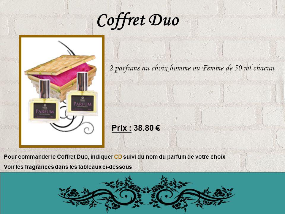 Coffret Duo 2 parfums au choix homme ou Femme de 50 ml chacun