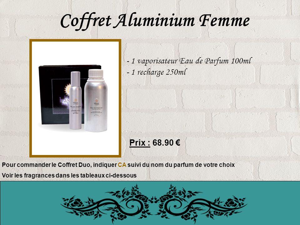 Coffret Aluminium Femme