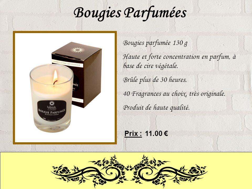 Bougies Parfumées Bougies parfumée 130 g