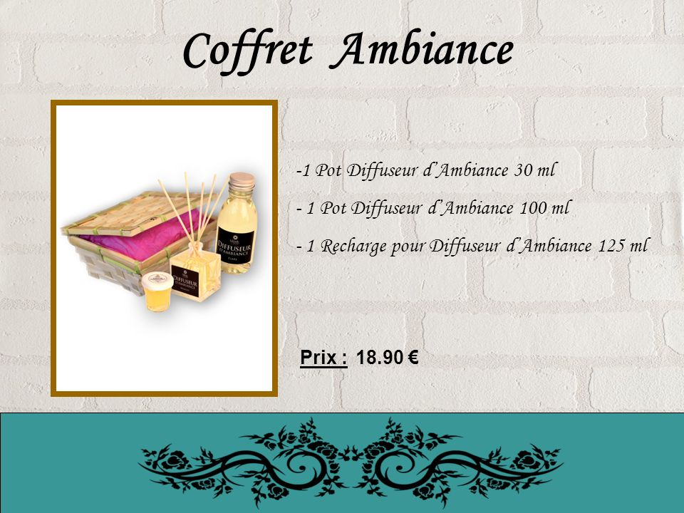 Coffret Ambiance 1 Pot Diffuseur d'Ambiance 30 ml