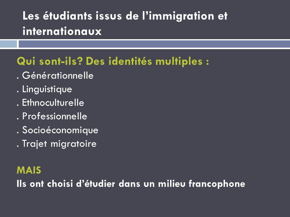 Les étudiants issus de l'immigration et internationaux