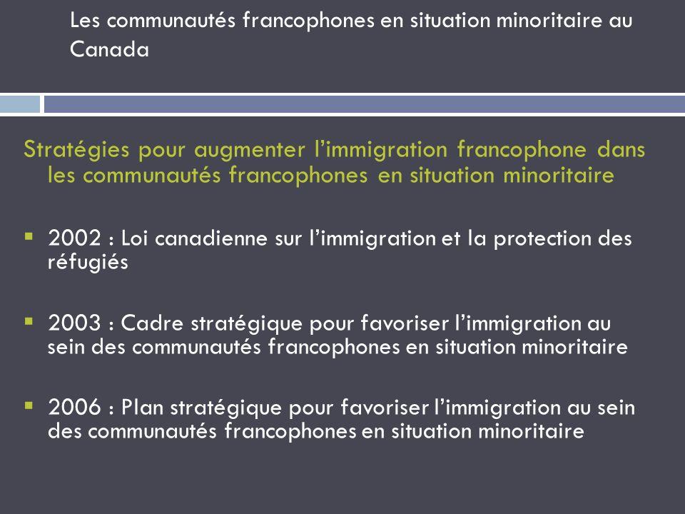 Les communautés francophones en situation minoritaire au Canada