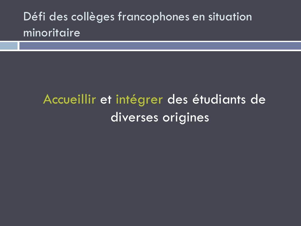 Défi des collèges francophones en situation minoritaire