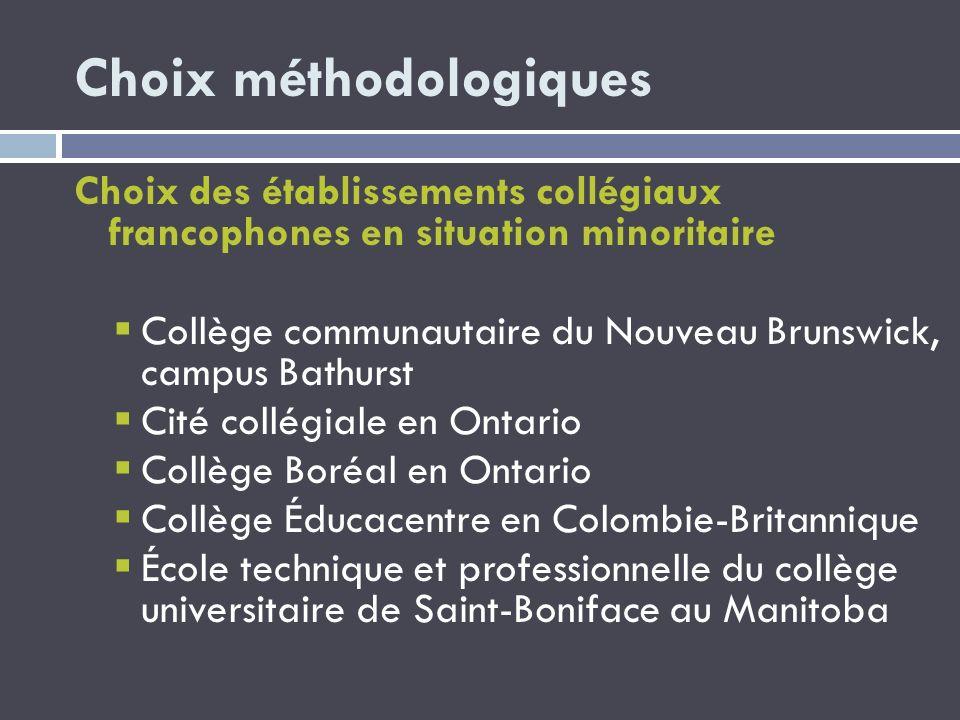Choix méthodologiques