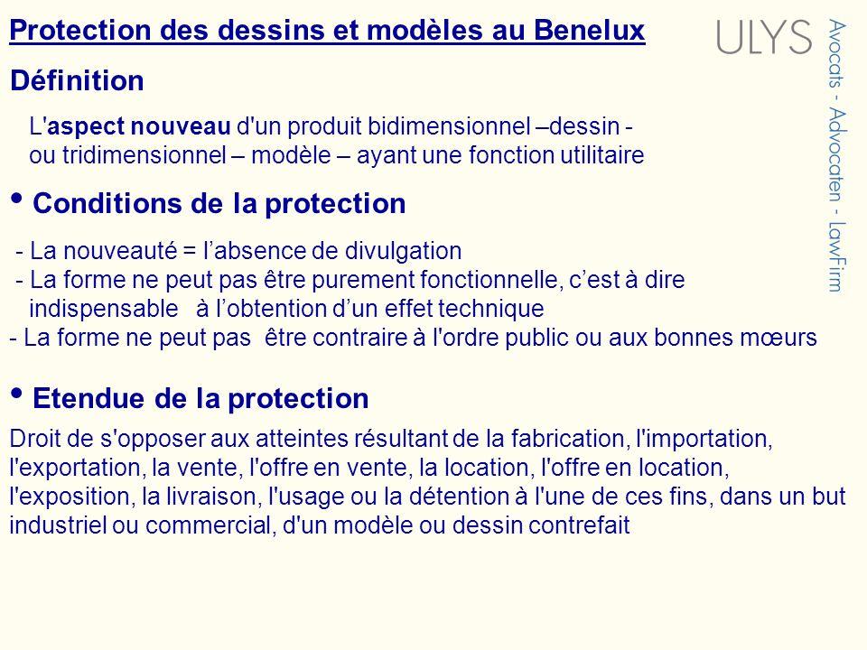 Protection des dessins et modèles au Benelux