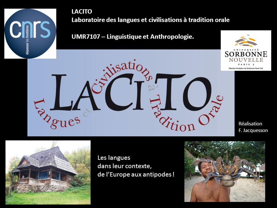 Laboratoire des langues et civilisations à tradition orale