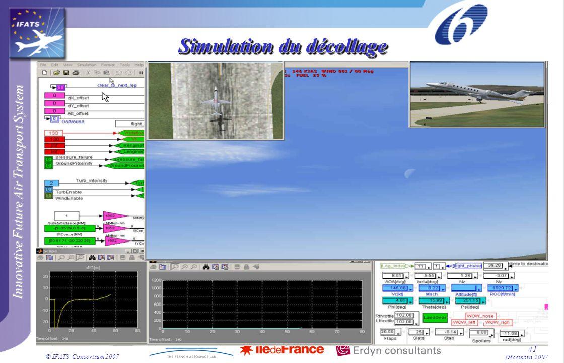 Simulation du décollage