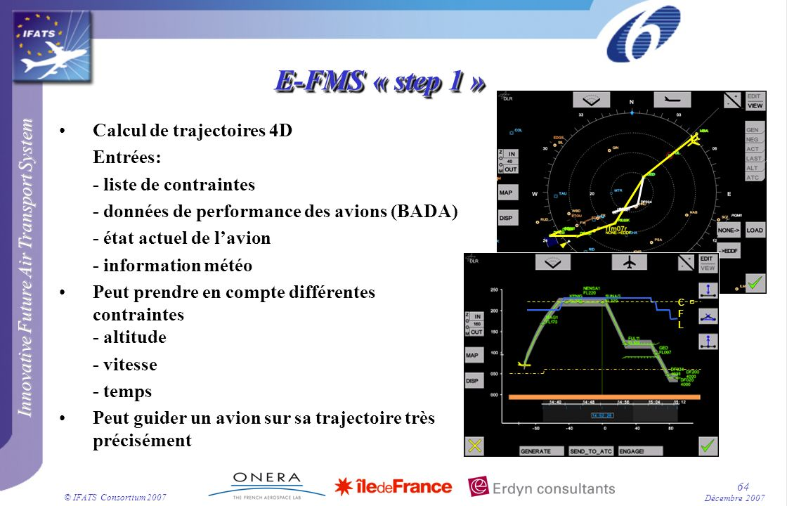 E-FMS « step 1 » Calcul de trajectoires 4D Entrées: