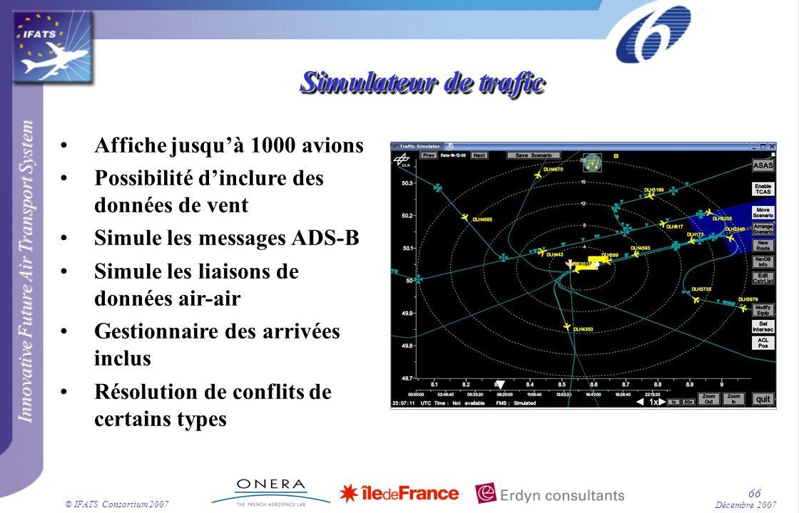 Simulateur de trafic Affiche jusqu'à 1000 avions