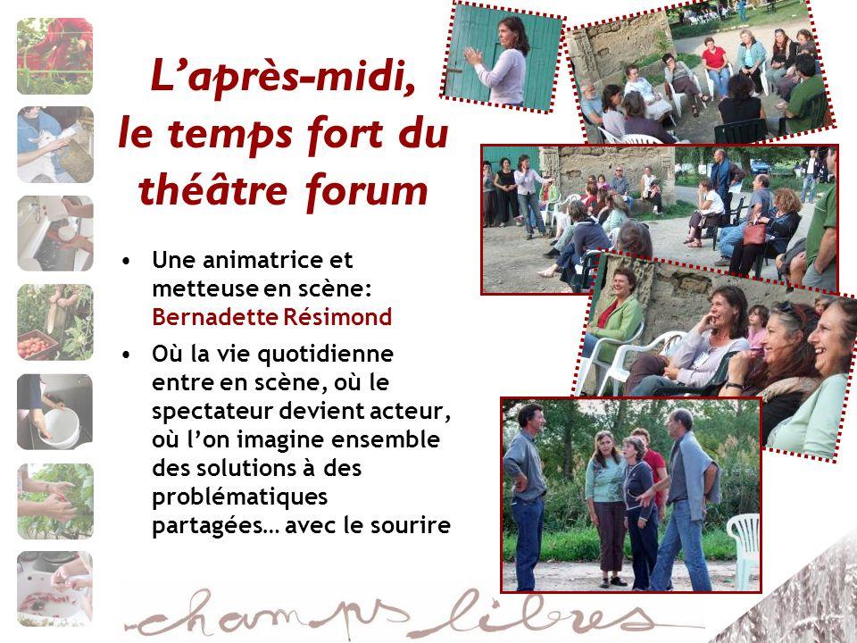 L'après-midi, le temps fort du théâtre forum