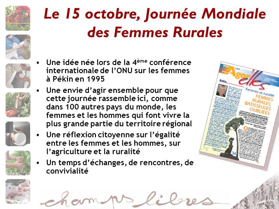 Le 15 octobre, Journée Mondiale des Femmes Rurales
