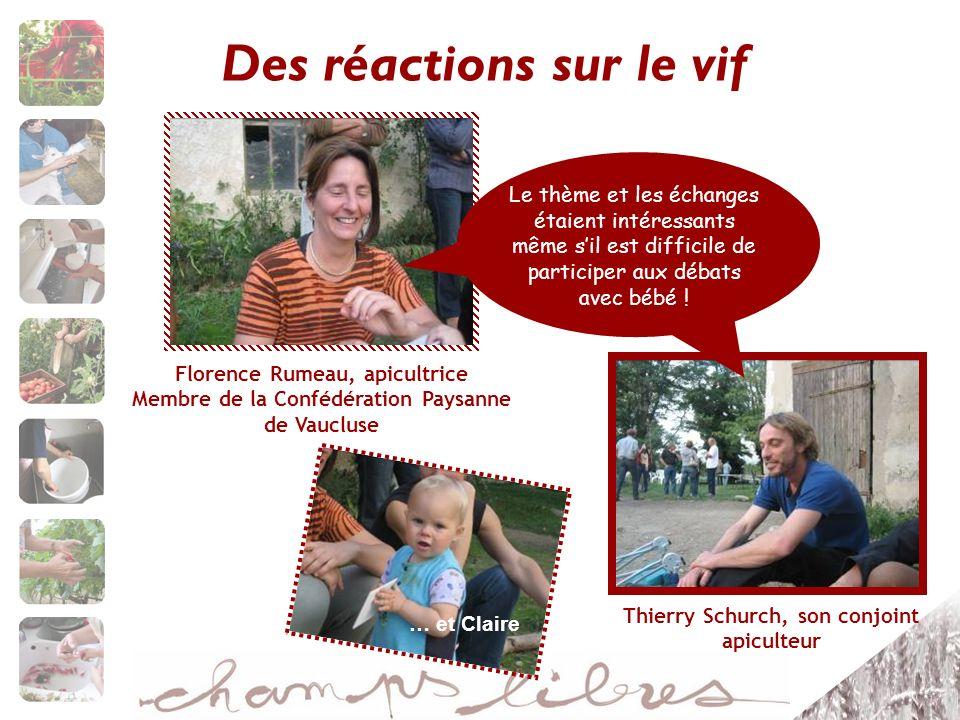 Des réactions sur le vif Thierry Schurch, son conjoint