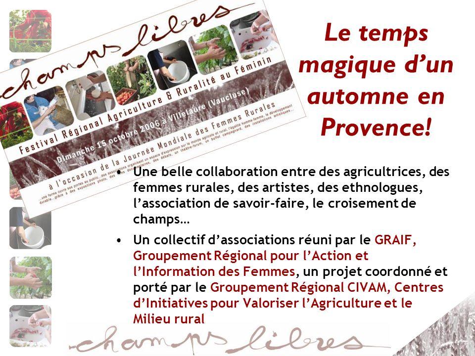 Le temps magique d'un automne en Provence!