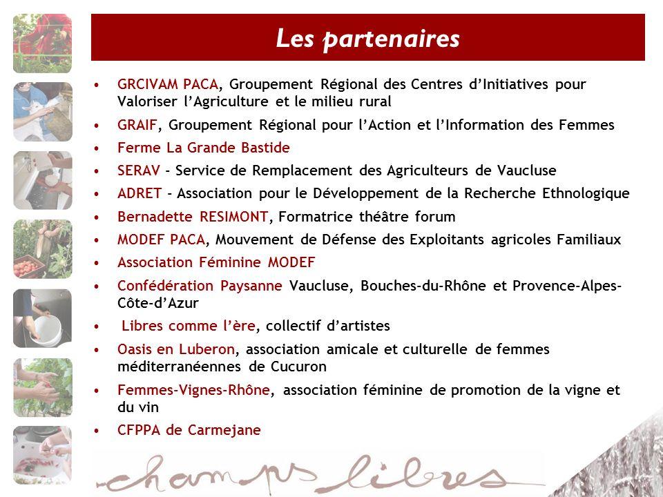 Les partenaires GRCIVAM PACA, Groupement Régional des Centres d'Initiatives pour Valoriser l'Agriculture et le milieu rural.