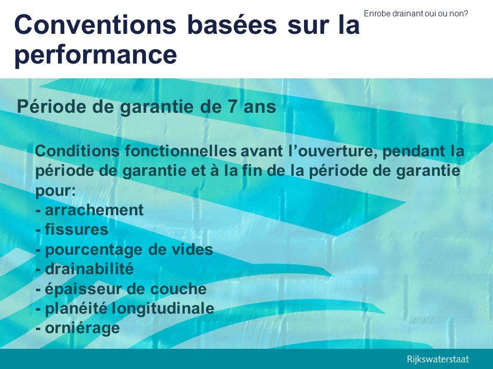Conventions basées sur la performance