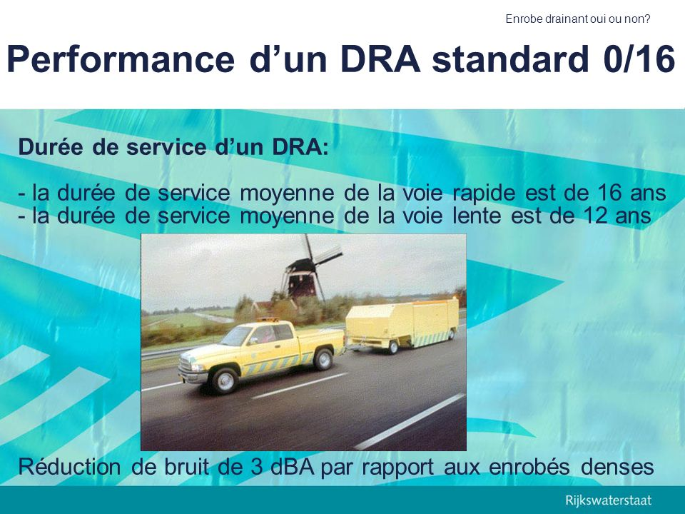 Performance d'un DRA standard 0/16