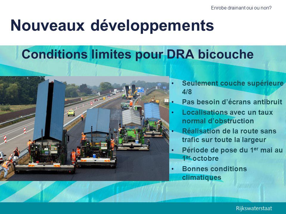 Conditions limites pour DRA bicouche