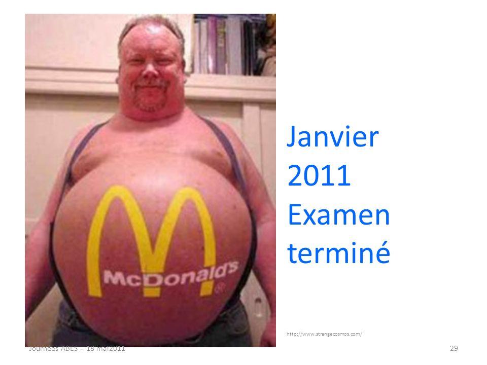 Janvier 2011 Examen terminé Journées ABES -- 18 mai2011