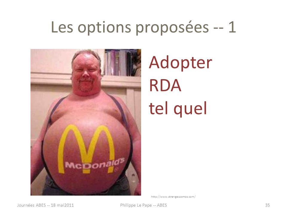 Les options proposées -- 1