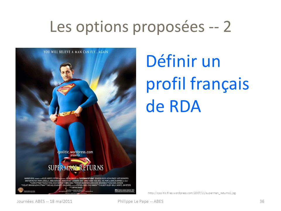 Les options proposées -- 2
