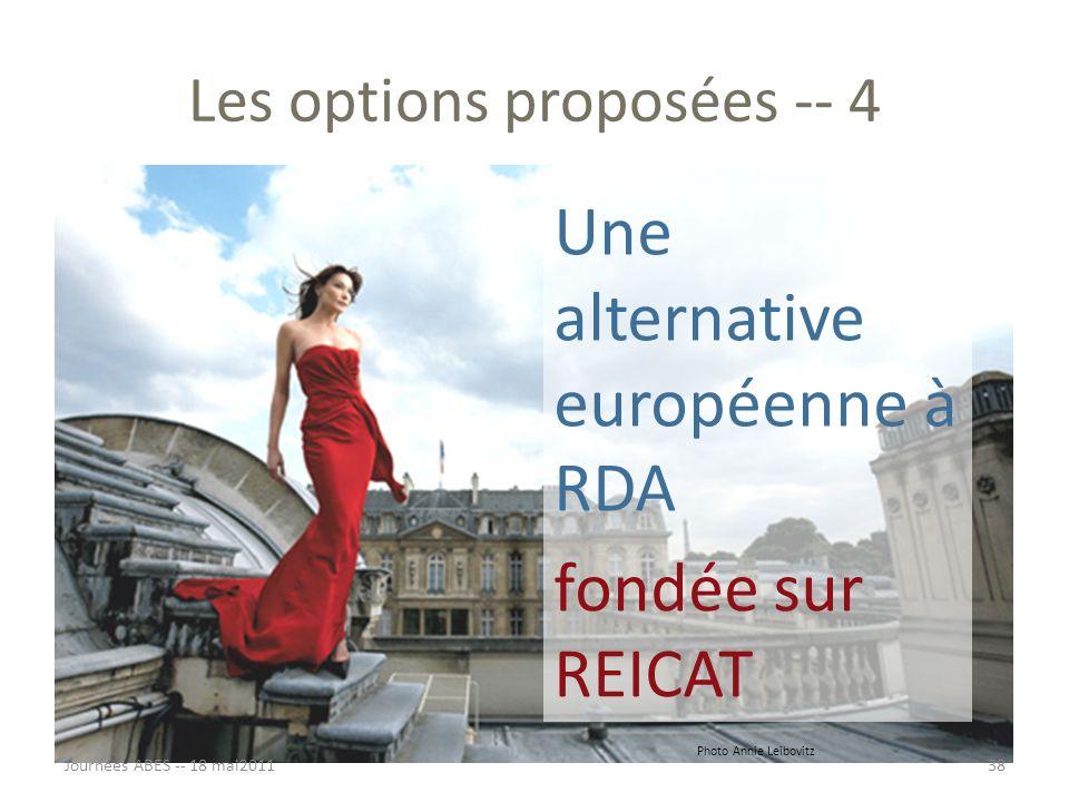 Les options proposées -- 4