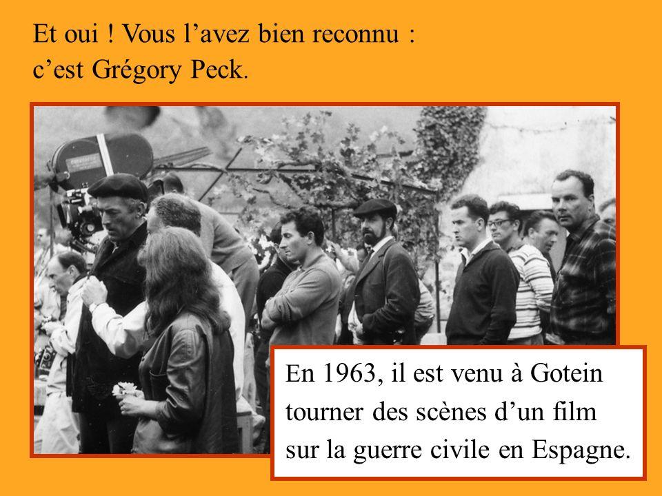 Et oui ! Vous l'avez bien reconnu : c'est Grégory Peck.