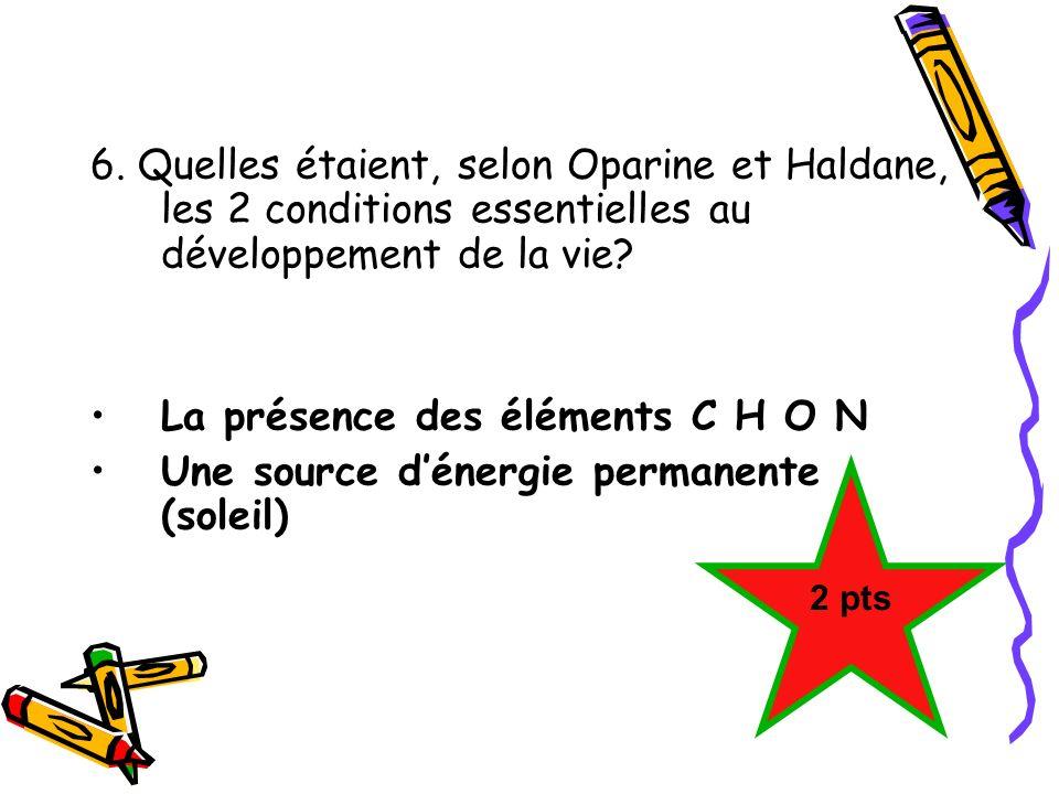 La présence des éléments C H O N