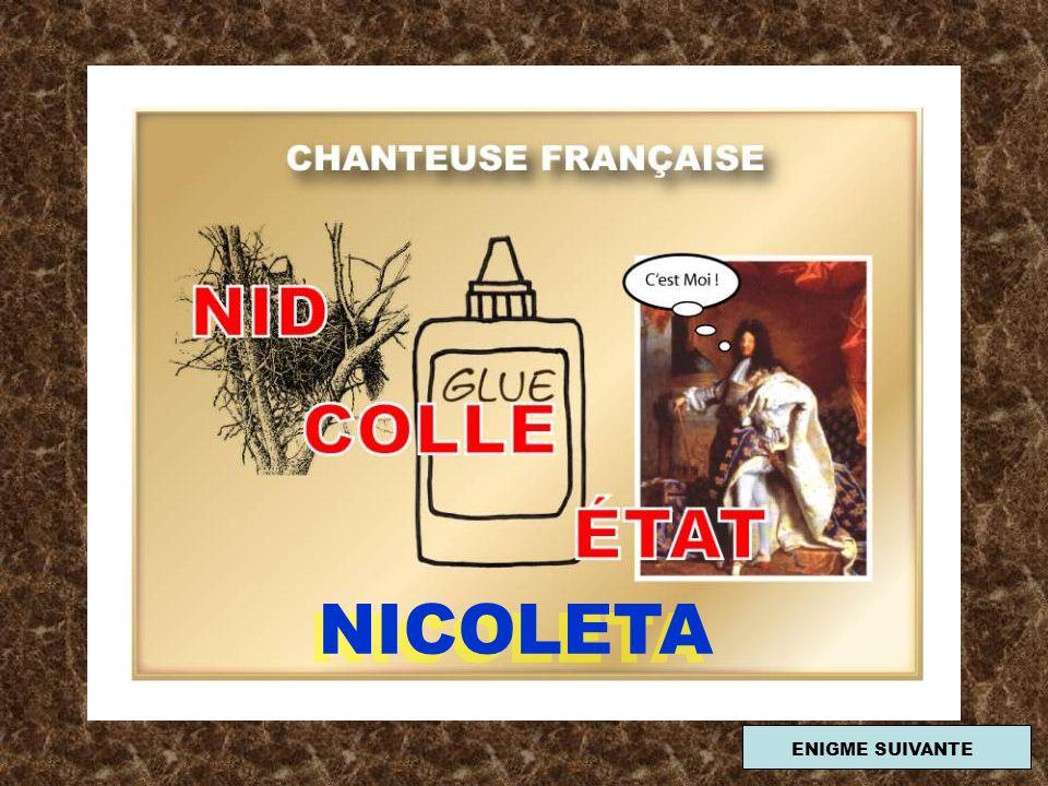 NICOLETA ENIGME SUIVANTE