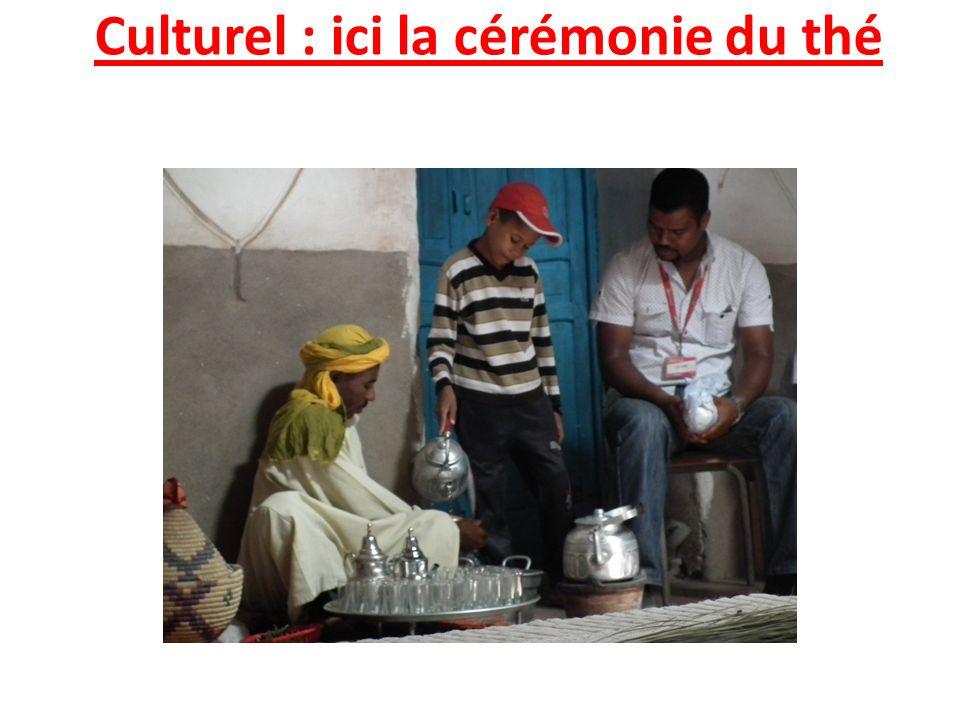 Culturel : ici la cérémonie du thé