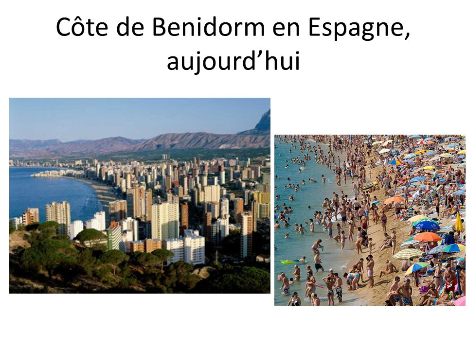 Côte de Benidorm en Espagne, aujourd'hui