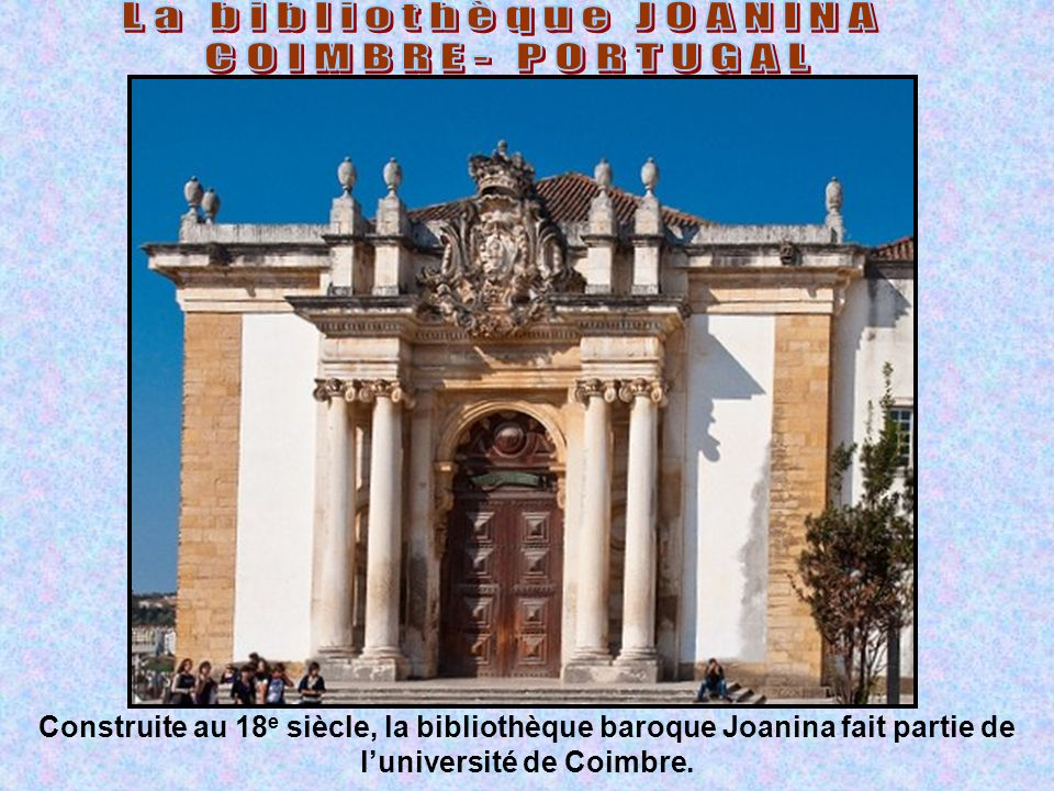 La bibliothèque JOANINA
