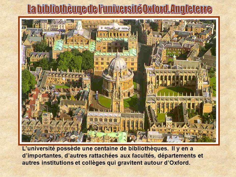 La bibliothèuqe de l'université Oxford. Angleterre