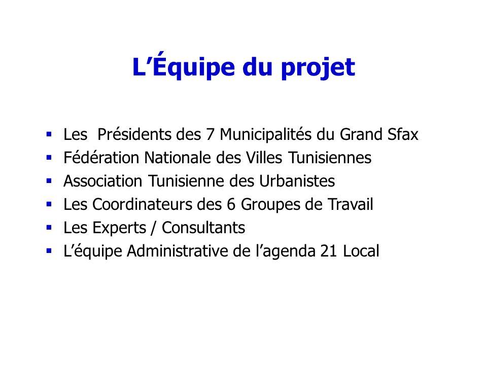 L'Équipe du projet Les Présidents des 7 Municipalités du Grand Sfax