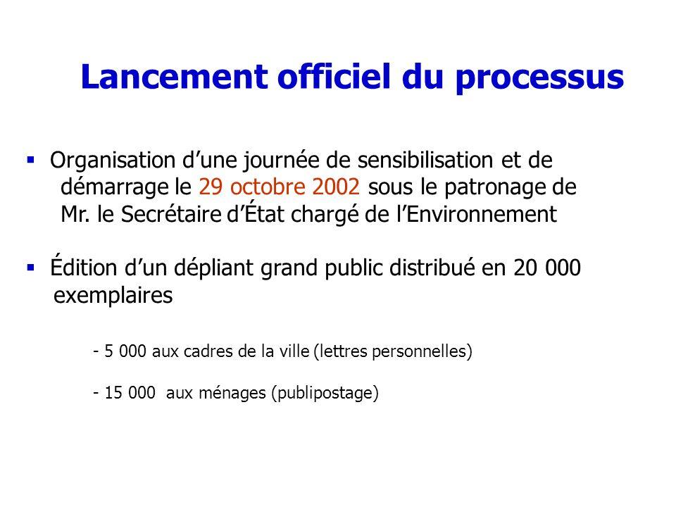 Lancement officiel du processus