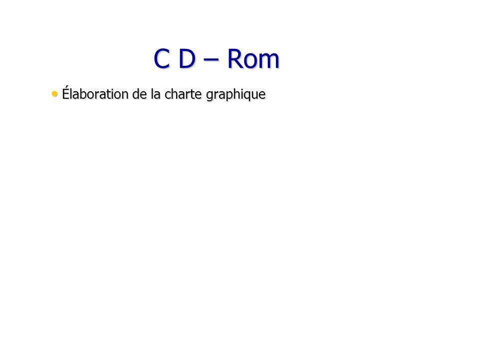 C D – Rom Élaboration de la charte graphique