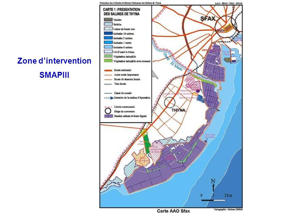 Zone d'intervention SMAPIII