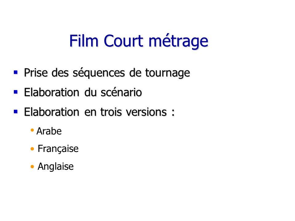 Film Court métrage Prise des séquences de tournage