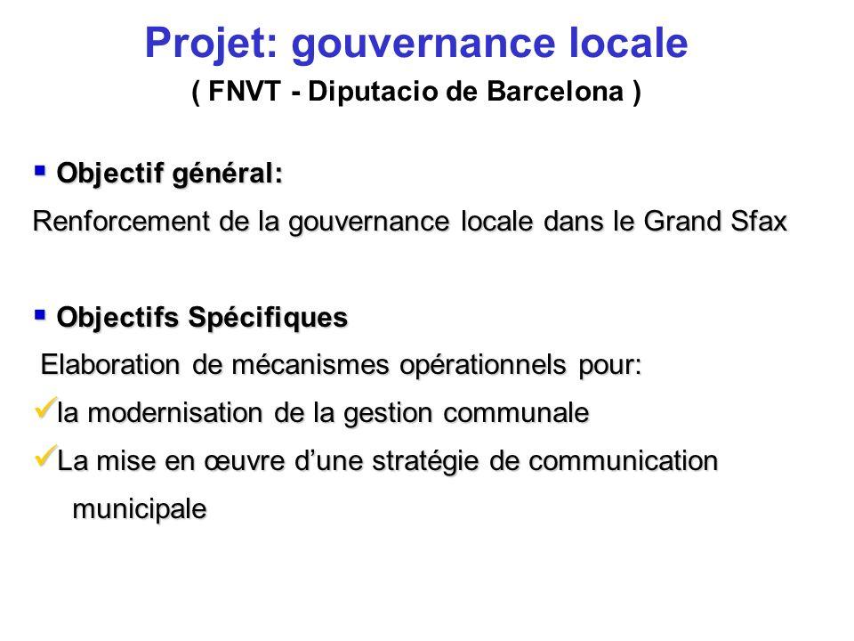 Projet: gouvernance locale ( FNVT - Diputacio de Barcelona )