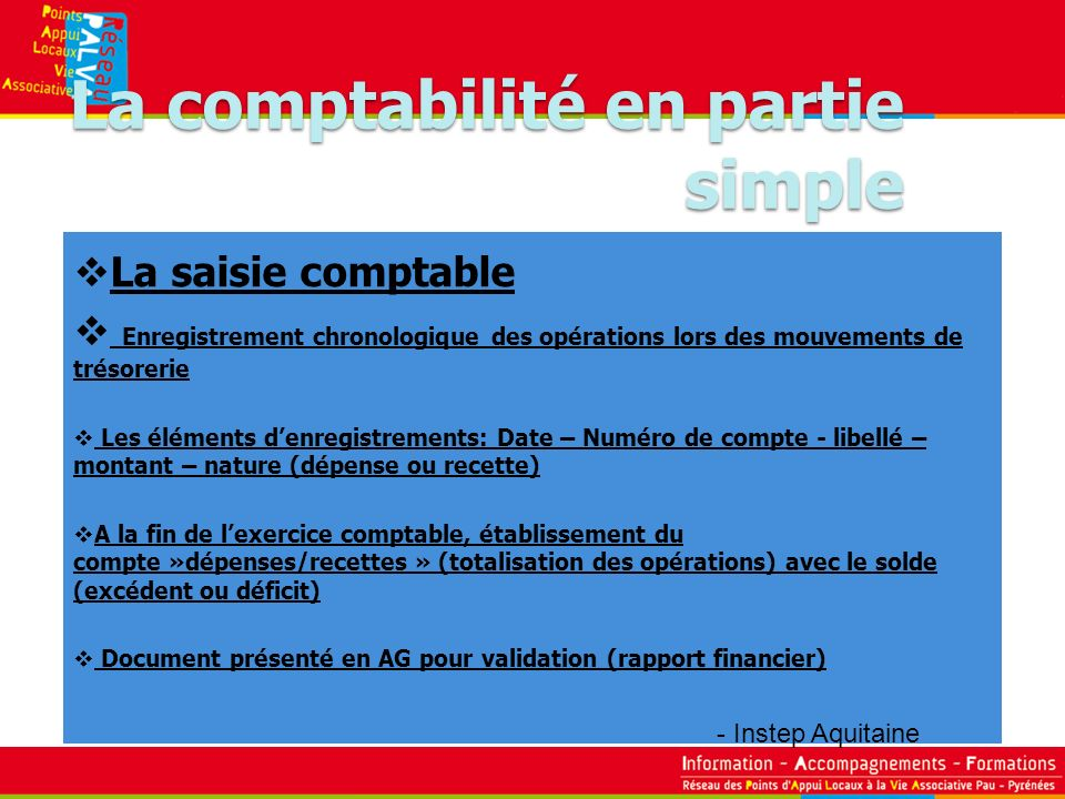 La comptabilité en partie simple