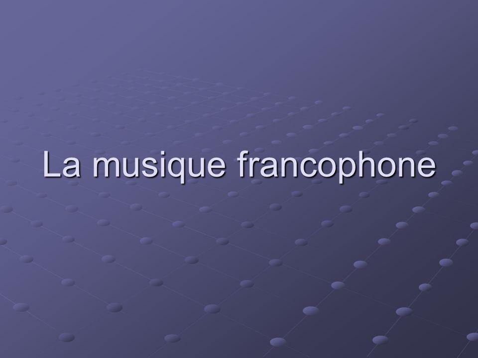 La musique francophone