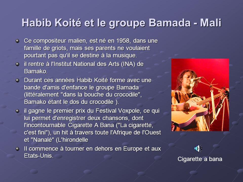 Habib Koité et le groupe Bamada - Mali