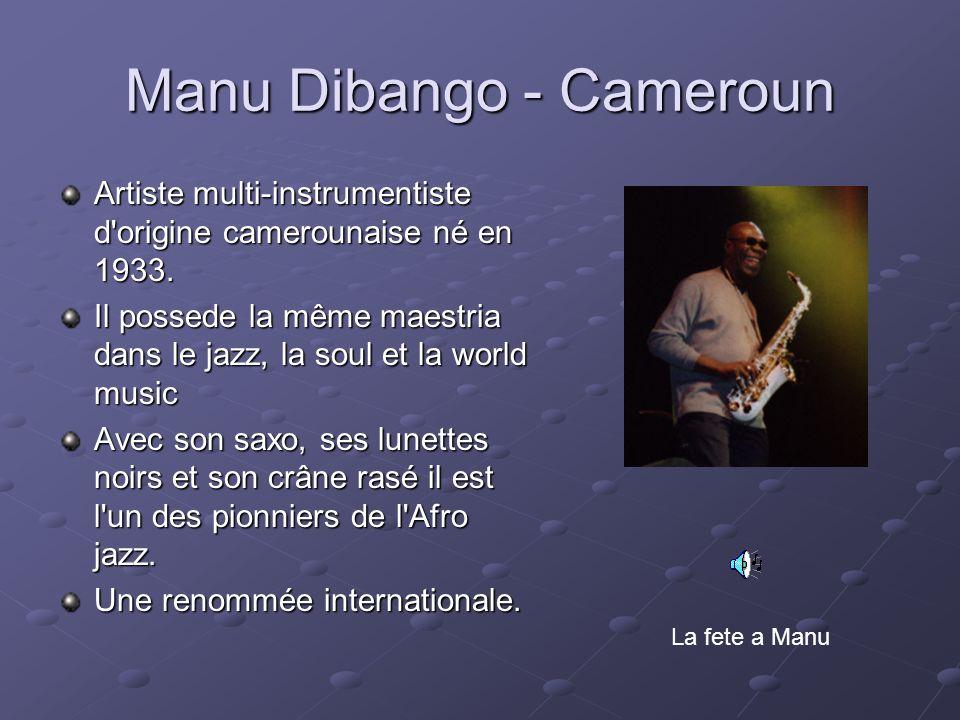 Manu Dibango - Cameroun