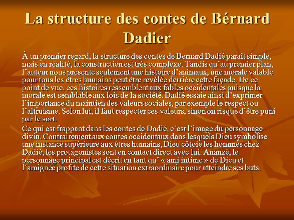 La structure des contes de Bérnard Dadier