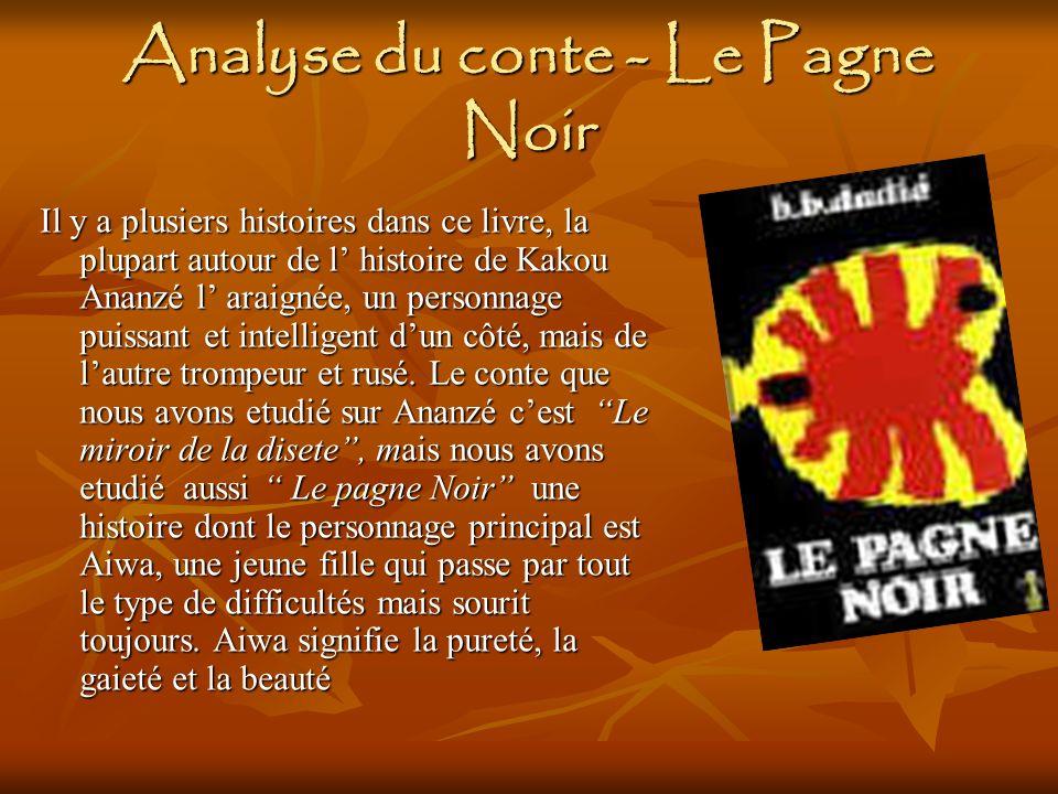 Analyse du conte - Le Pagne Noir