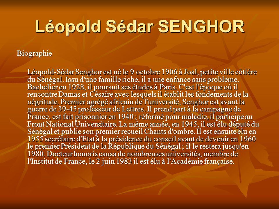 Léopold Sédar SENGHOR Biographie