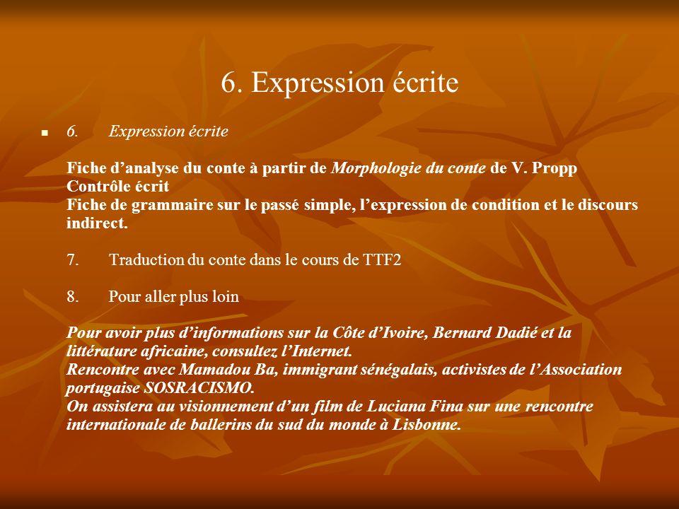 6. Expression écrite