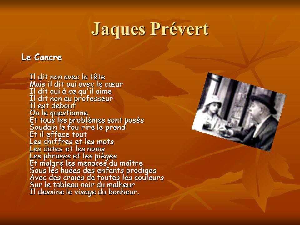 Jaques Prévert Le Cancre